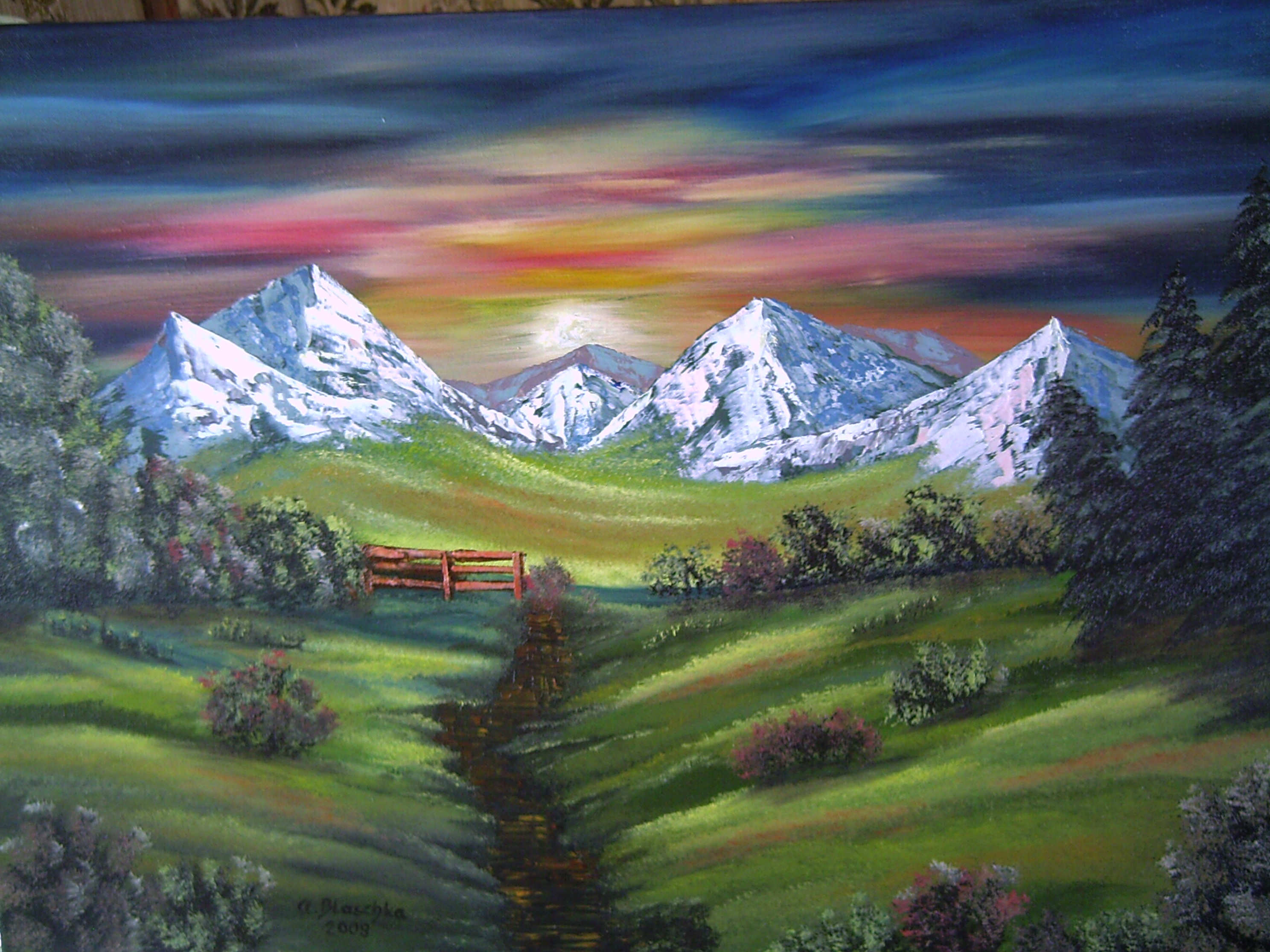 Antonie's Malerei: Landschaften nach Bob Ross