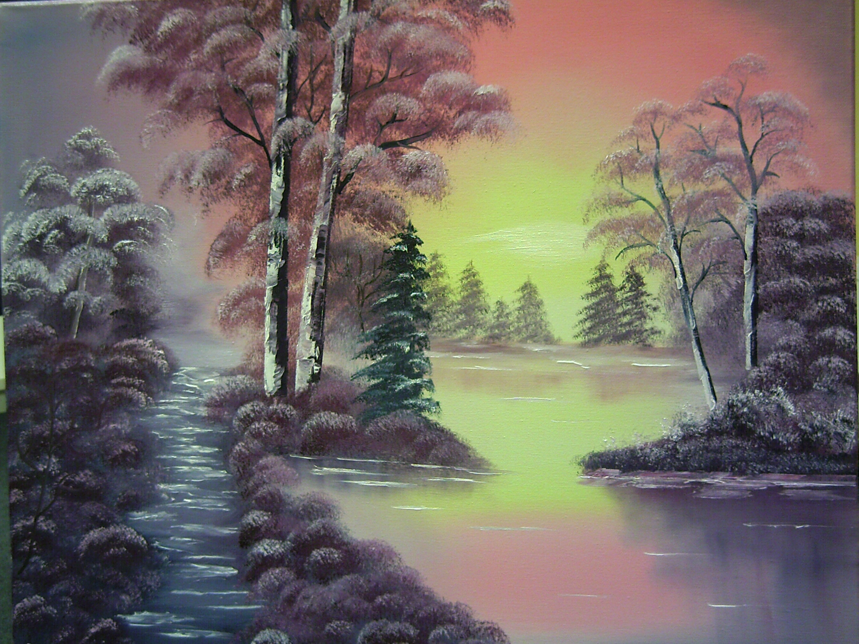 Alaska >> Antonie's Malerei: Landschaften nach Bob Ross