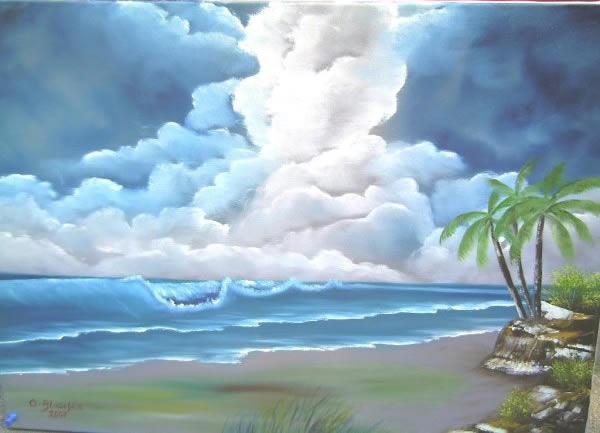 Antonie S Malerei Landschaften Nach Bob Ross